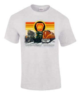 Pennsylvania RR Triple Header Authentic Railroad T-Shirt Tee Shirt