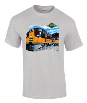 Illinois Central Authentic Railroad T-Shirt Tee Shirt