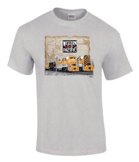 Western Pacific Geeps Authentic Railroad T-Shirt Tee Shirt