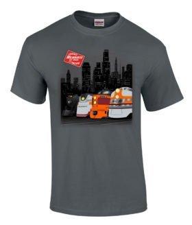 Milwaukee at Night Authentic Railroad T-Shirt Tee Shirt