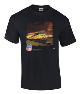 Union Pacific Railroad Stormy Sky T-Shirt [114]