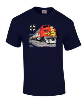 AT&SF (Santa Fe) Super Chief at Night Authentic Railroad T-Shirt