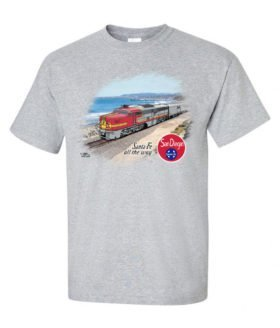 AT&SF (Santa Fe) San Diegan Authentic Railroad T-Shirt [120]
