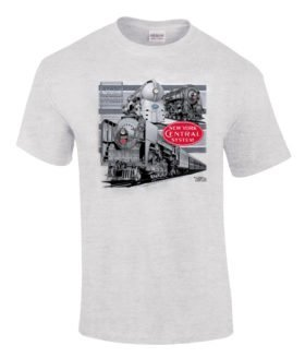New York Central Triple Header Authentic Railroad T-Shirt Tee Shirt [138]