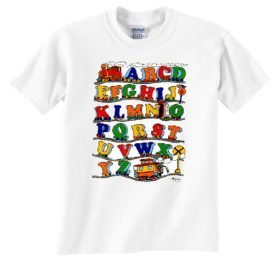 ABCs Train Railroad T-Shirt Tee Shirt