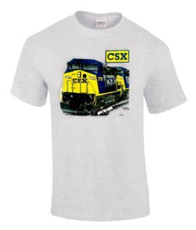 CSX C44-9W Authentic Railroad T-Shirt Tee Shirt