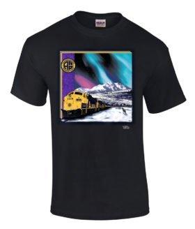 Alaska Railroad at Mt. McKinley Authentic Railroad T-Shirt Tee Shirt