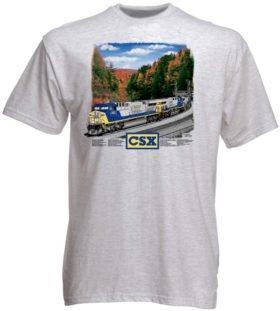 CSX AC6000 Authentic Railroad T-Shirt Tee Shirt