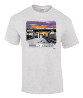 Norfolk Southern Triple Header Authentic Railroad T-Shirt Tee Shirt