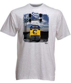Chessie System Sunset Authentic Railroad T-Shirt Tee Shirt
