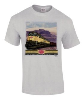 Spokane, Portland and Seattle Alcos in the Gorge Authentic Railroad T-Shirt [37]