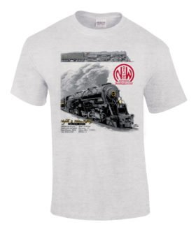 Norfolk & Western 1218 Authentic Railroad T-Shirt Tee Shirt