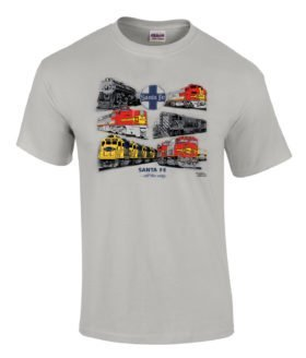 Santa Fe All The Way Authentic Railroad T-Shirt