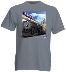 AT&SF (Santa Fe) 3751 at San Diego Authentic Railroad T-Shirt Tee Shirt