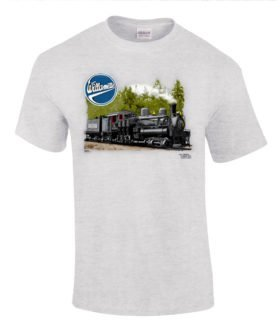 Willamette Logging Locomotives Authentic Railroad T-Shirt Tee Shirt
