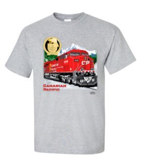Canadian Pacific AC4400CW Authentic Railroad T-Shirt Tee Shirt