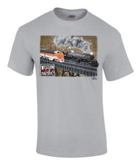Western Pacific @ Keddie Wye Authentic Railroad T-Shirt Tee Shirt