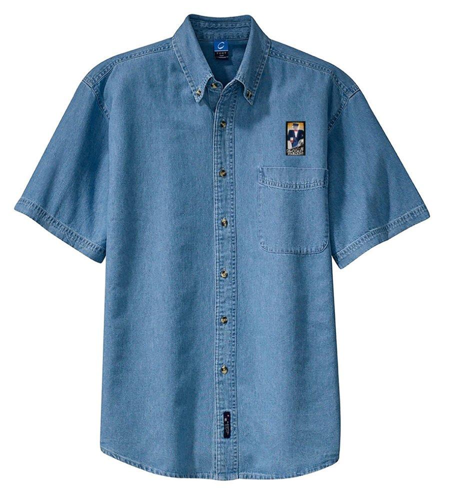 Amtrak Coast Starlight Short Sleeve Embroidered Denim [den106SS]