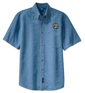 St. Louis Southwestern Railway Short Sleeve Embroidered Denim [den110SS]
