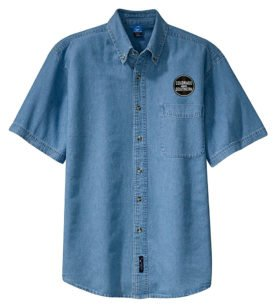 Colorado and Southern Railway Short Sleeve Embroidered Denim [den113SS]