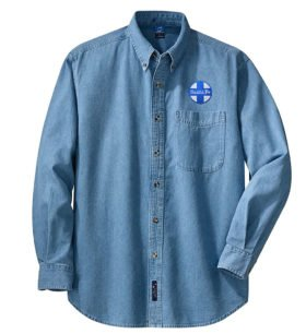 AT&SF Santa Fe Blue Cross Long Sleeve Embroidered Denim [den16LS]
