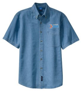 Amtrak Arrow Short Sleeve Embroidered Denim [den221SS]