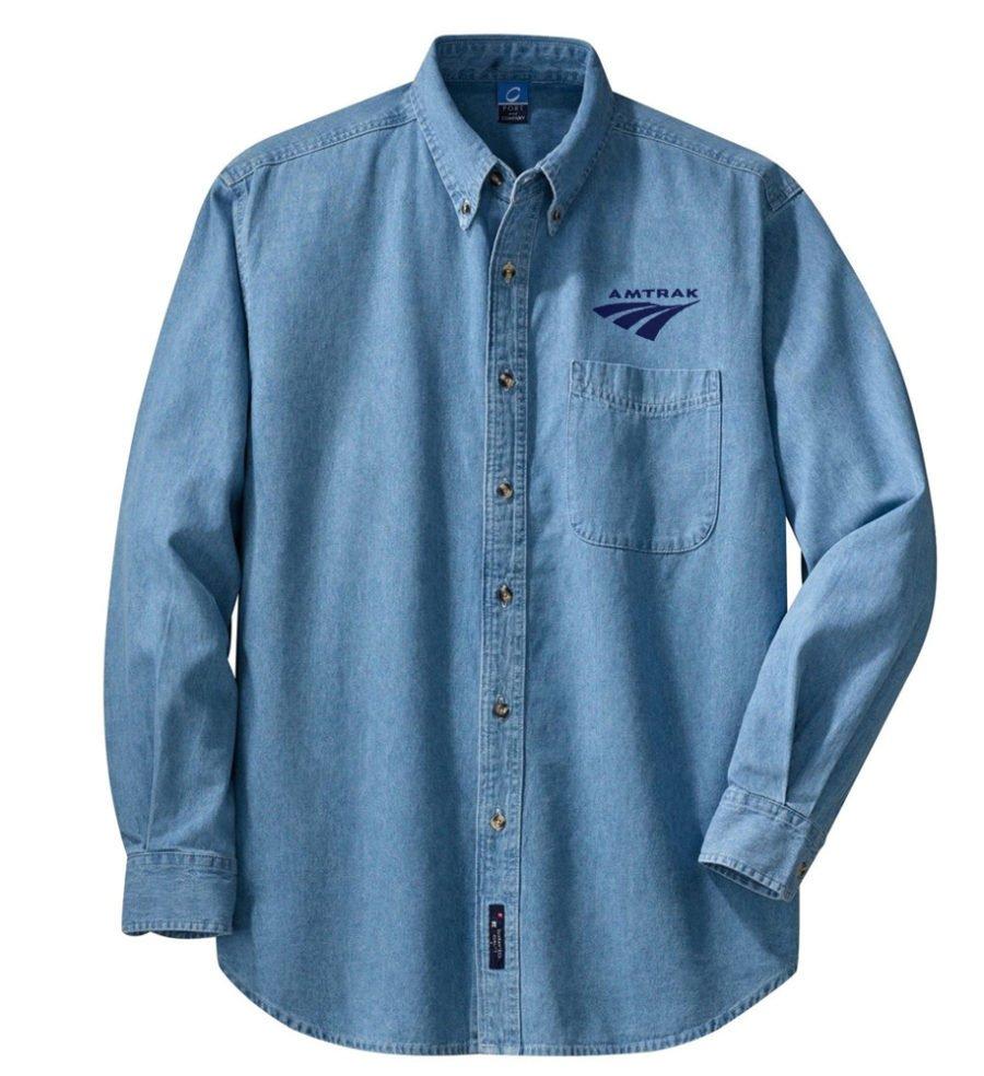 Amtrak Travelmark Long Sleeve Embroidered Denim [den252LS]