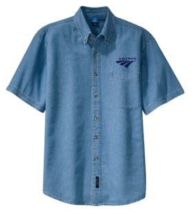 Amtrak Travelmark Short Sleeve Embroidered Denim [den252SS]