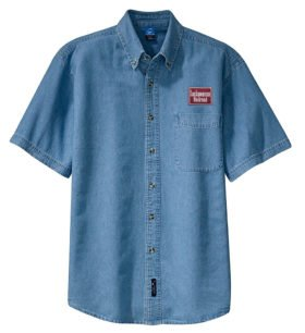 Delaware, Lackawanna & Western Short Sleeve Embroidered Denim [den31SS]