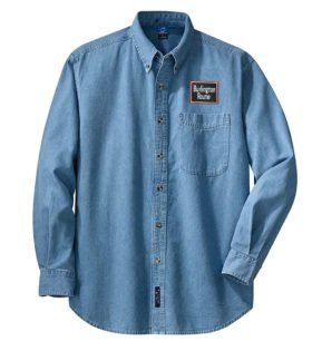 Chicago, Burlington and Quincy Long Sleeve Embroidered Denim [den33LS]