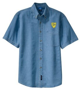 Delaware and Hudson Railway Short Sleeve Embroidered Denim [den34SS]