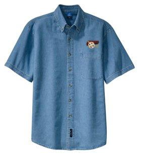 AT&SF Santa Fe Chief Short Sleeve Embroidered Denim [den42SS]