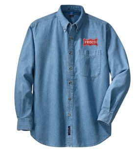 Frisco Railway Long Sleeve Embroidered Denim [den44LS]