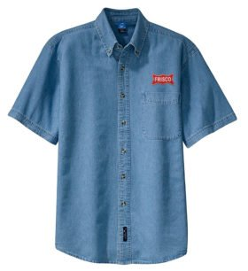 Frisco Railway Short Sleeve Embroidered Denim [den44SS]