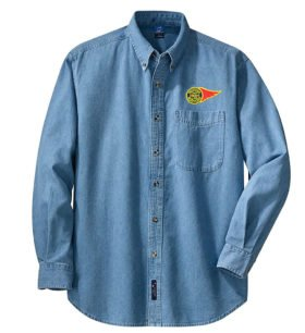 Western Maryland Fireball Logo Long Sleeve Embroidered Denim [den63LS]