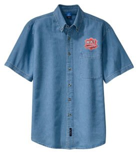 Missouri Kansas Texas Railroad Short Sleeve Embroidered Denim [den70SS]