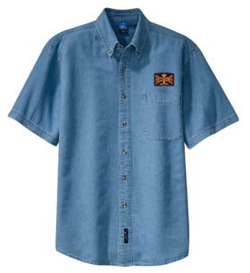 Bessemer and Lake Erie Railroad Short Sleeve Embroidered Denim [den71SS]