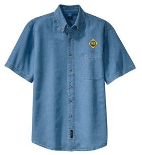 Erie Railroad Short Sleeve Embroidered Denim [den78SS]