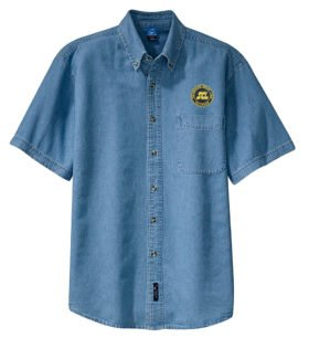 Seaboard Coast Line Railroad Short Sleeve Embroidered Denim [den79SS]
