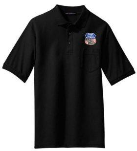 AT&SF Santa Fe Black Cross Logo Embroidered Polo  [120]