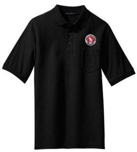 NYC White Logo Embroidered Polo  [28]