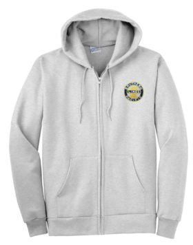 Southern Pacific Sunset Logo Zippered Hoodie Sweatshirt [02]
