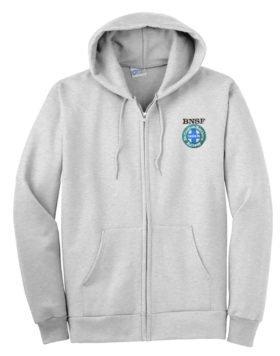 Burlington Northern Santa Fe Intermodal Logo Zippered Hoodie Sweatshirt [03]