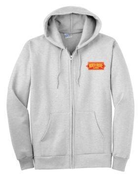 Chicago North Shore and Milwaukee Railroad Zippered Hoodie Sweatshirt [114]