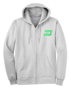 Burlington Northern Logo Zippered Hoodie Sweatshirt [46]