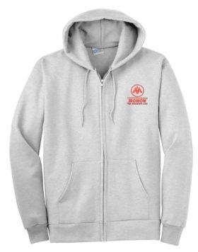 Monon Railroad Zippered Hoodie Sweatshirt [56]