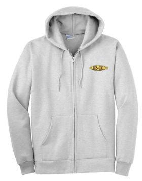 BNSF Cigar Band Logo Zippered Hoodie Sweatshirt [61]