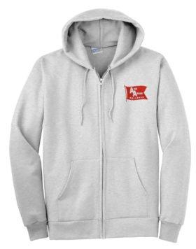 Ann Arbor Railroad Zippered Hoodie Sweatshirt [77]