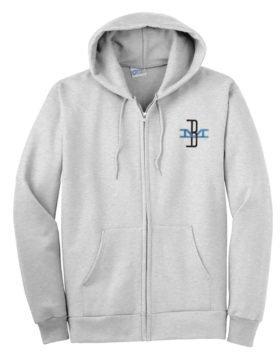 Boston and Maine McGinnis Logo Zippered Hoodie Sweatshirt [86]