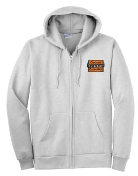 Elgin Joliet and Eastern Railway Zippered Hoodie Sweatshirt [95]